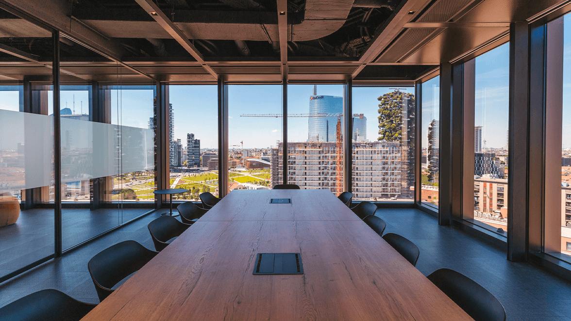 sala conferenze per meeting ibrido milano