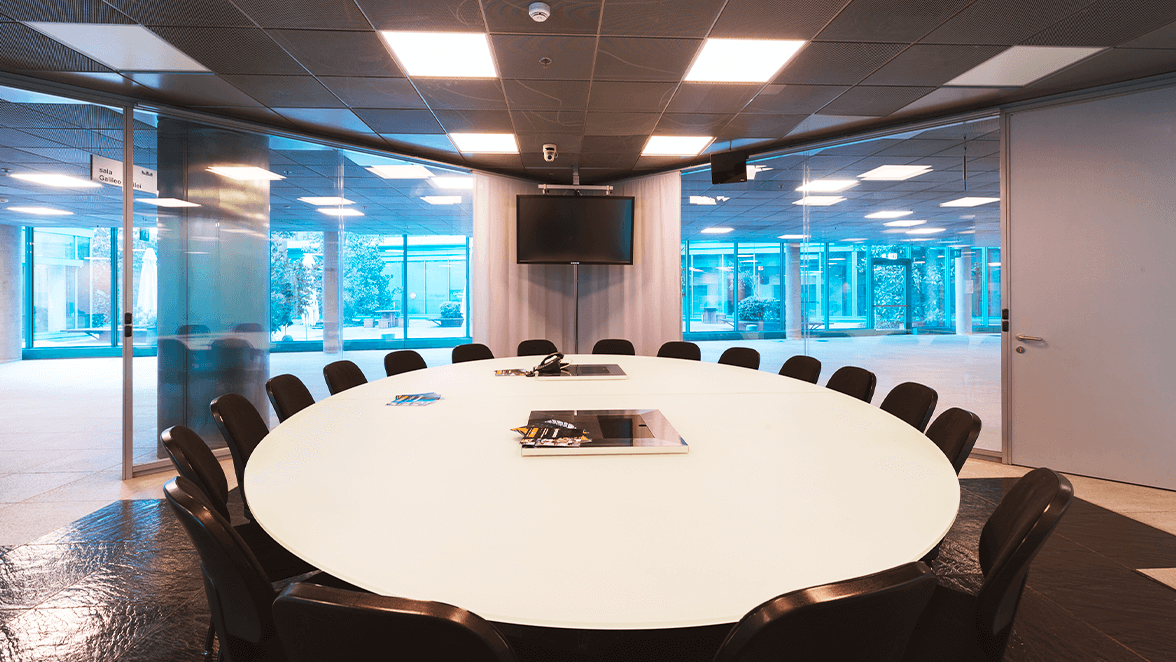 sala conferenze per meeting ibrido Linate